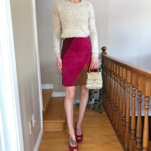 Old Navy Patchwork Leather Skirt